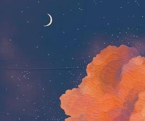 wallpaper, art, and moon image