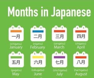 language, nihongo, and months image