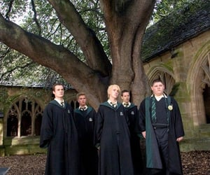 harry potter, slytherin, and draco malfoy image
