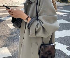 autumn, coat, and fashion image