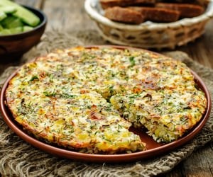 tortilla, omelette, and frittata image