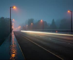 night, rain, and light image