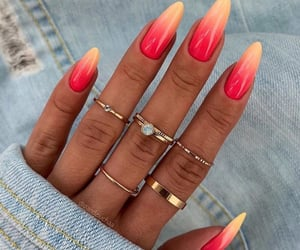 nails, summer, and beauty image