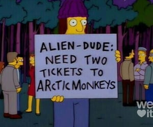 arctic monkeys, simpsons, and band image