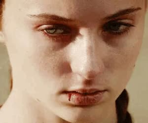 gif, girl woman, and sansa stark image