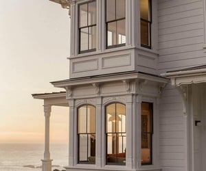 house, architecture, and beach image