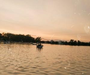 autumn, boat, and corfu image
