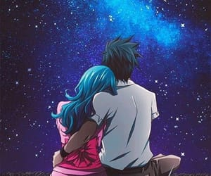 couple, night, and stars image