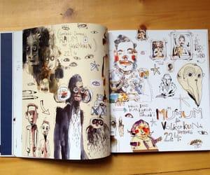 sketchbook, unusual, and watercolor image