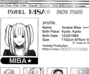 anime, death note, and misa amane image