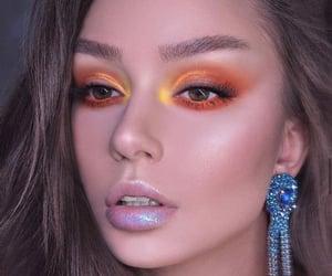 eye make up, eyes, and girls image