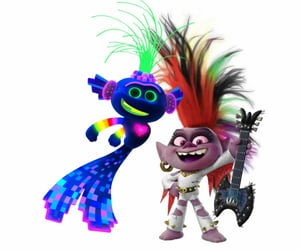 animation, dreamworks, and trolls image