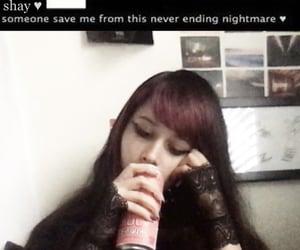 emo, goth, and meme image