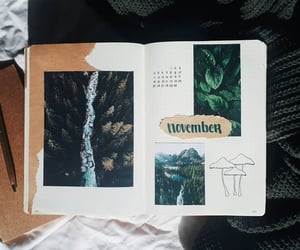 november, green theme, and month image