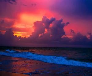 beaches, sunset, and tropics image