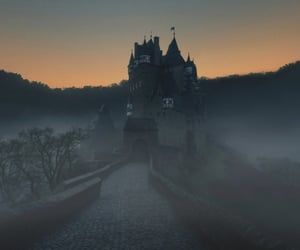 castle, spooky, and dark image