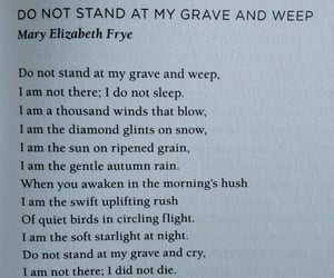 death, grief, and poem image