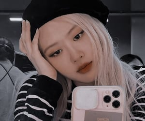 rose aesthetic, blackpink aesthetic, and rose icon image