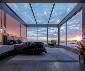 view, bedroom, and design image