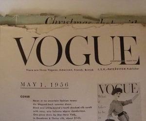 vogue, 50s, and magazine image