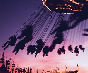 playground, sky, and sunset image