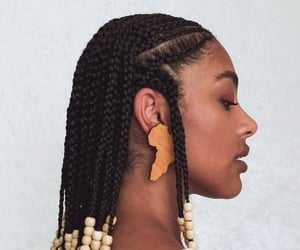 black is beautiful, hair, and hair styles image