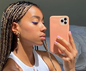 black is beautiful, braids, and hair image