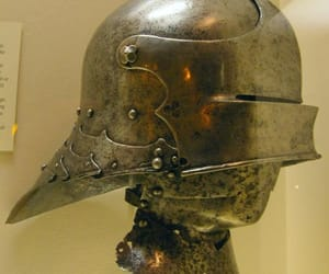 medieval, salade, and sallet image