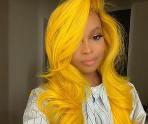 colorful hair, hairstyle, and dyed hair image