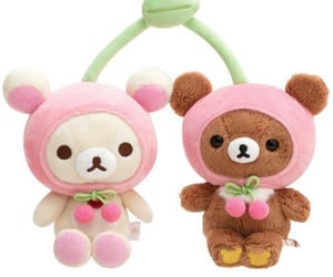 aesthetic, bear, and pink image