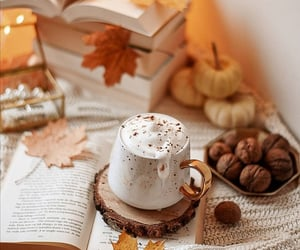 autumn, october, and hot ​chocolate image