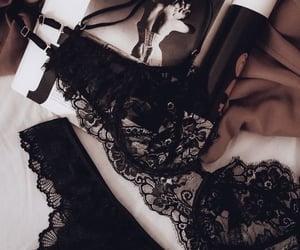 black, fashion, and lace image