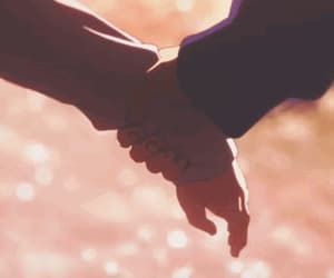 anime, gif, and hold hands image