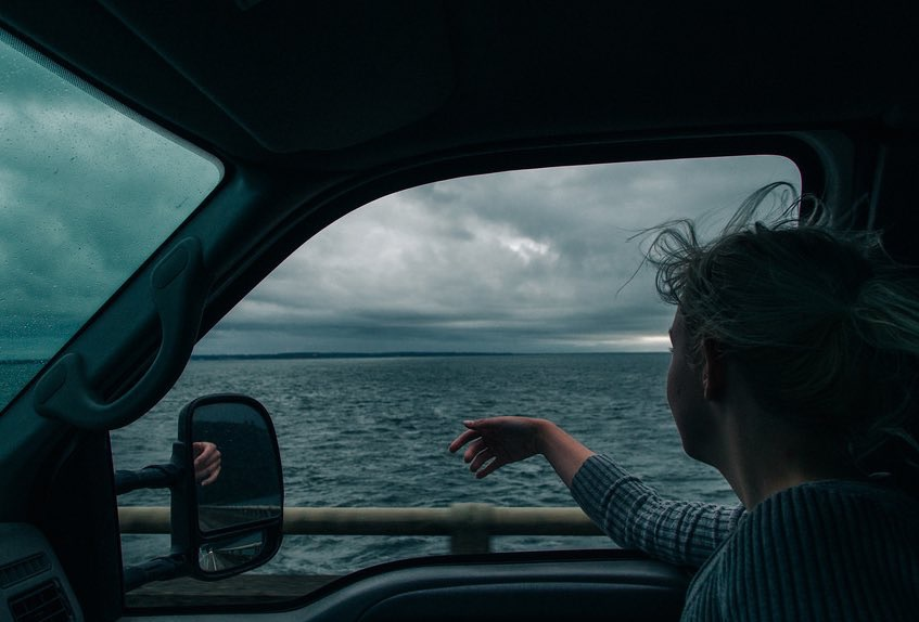 sea, car, and ocean image