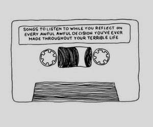 music, tape, and quotes image