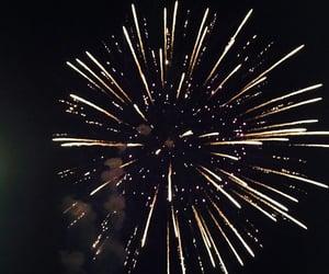 fireworks, light, and black image