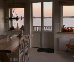 beach house, cozy, and dining room image