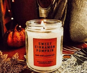 pumpkin, candle, and autumn image