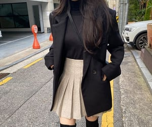 asian, black, and clothing image