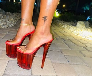 heels, high heels, and hoe image