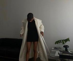 white coat, home interior design, and chic elegant image