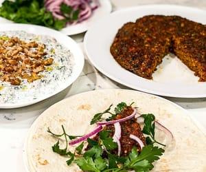kebab, turkish food, and spinach image