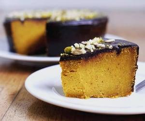 carrot cake, vegan, and chocolate ganache image