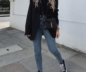 blazer, clothes, and convers image