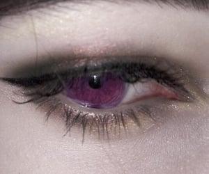 purple, eyes, and grunge image