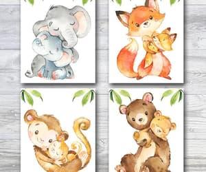 etsy, watercolor print, and jungle print image