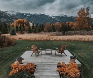 autumn, beautiful, and deck image