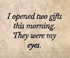 quotes, eyes, and gift image