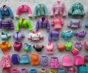polly pocket, clothes, and childhood image