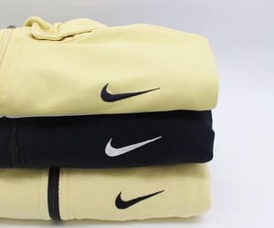 black, nike, and sweaters image